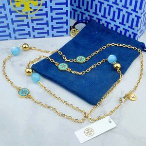 🍃Tory Burch Blue Multi Pendant Necklace